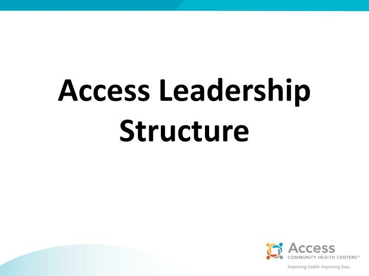 Access Leadership Structure