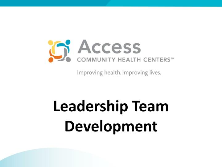 Leadership team development