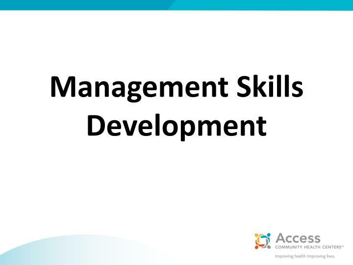 Management Skills Development