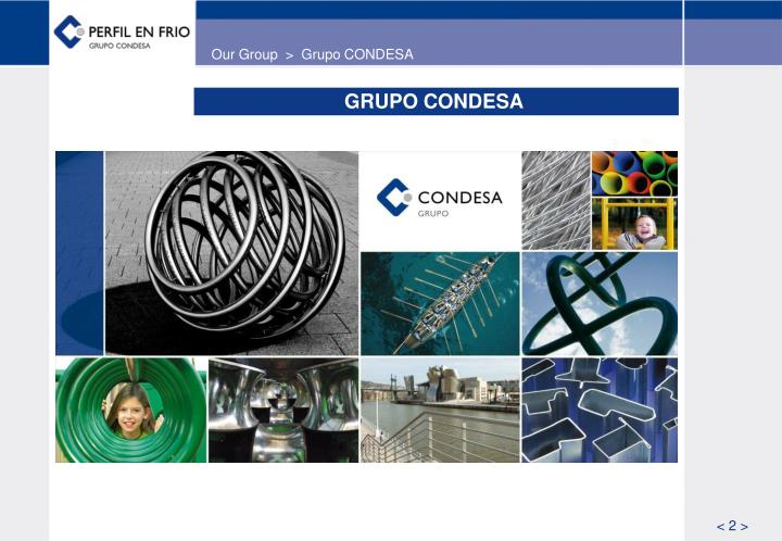Our Group  >  Grupo CONDESA