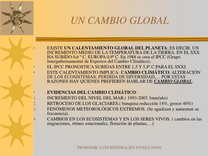 UN CAMBIO GLOBAL