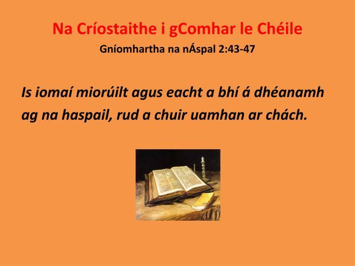 Na Críostaithe i gComhar le Chéile