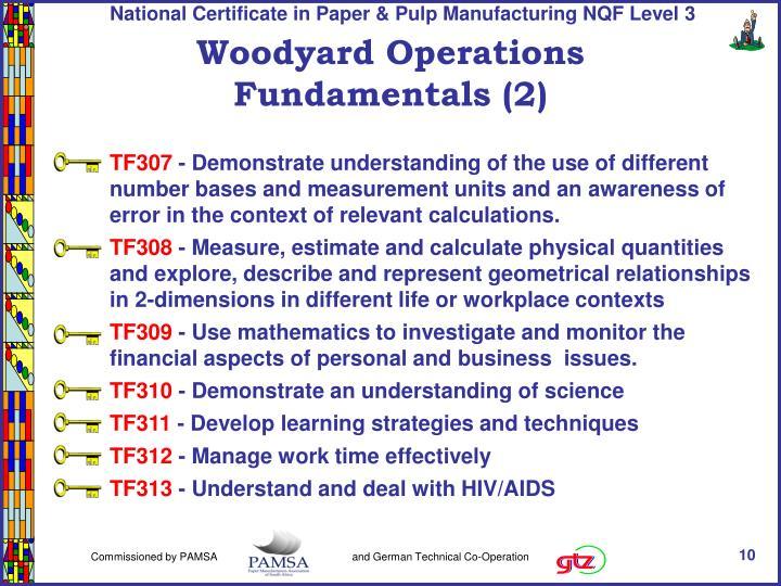 Woodyard Operations