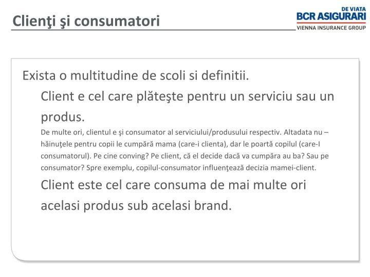 Clienţi şi consumatori