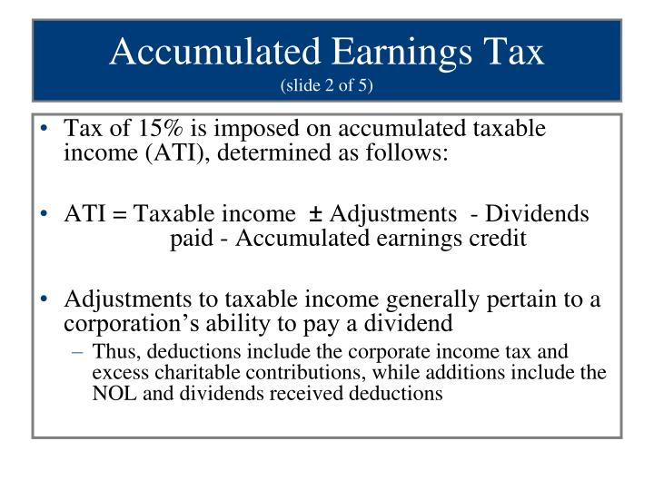 Accumulated Earnings Tax