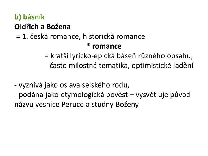 b) básník