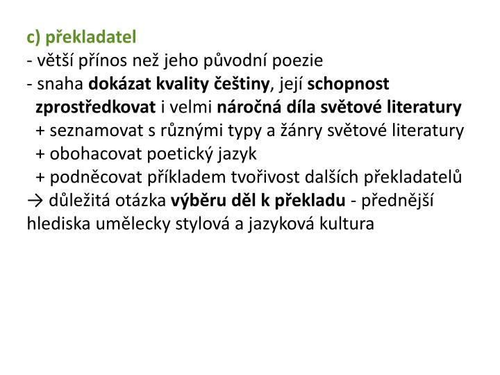 c) překladatel