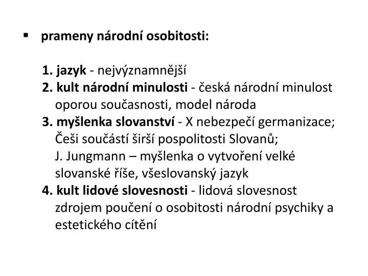 prameny národní osobitosti: