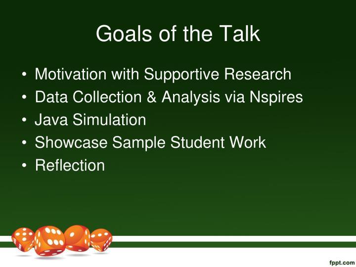 Goals of the Talk