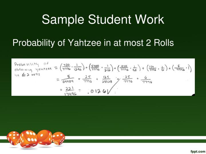Sample Student Work