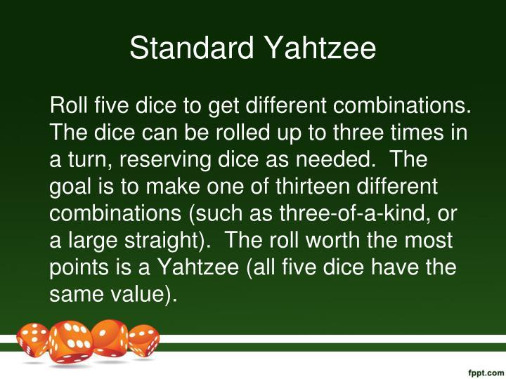 Standard Yahtzee
