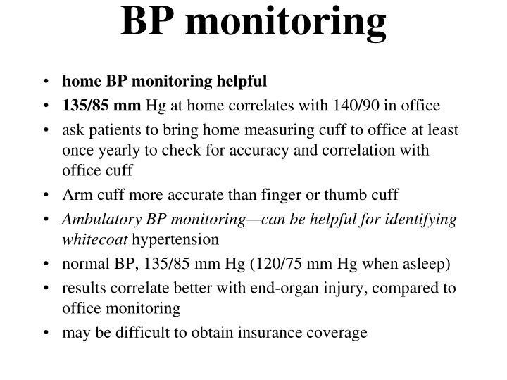 BP monitoring