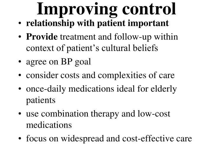 Improving control