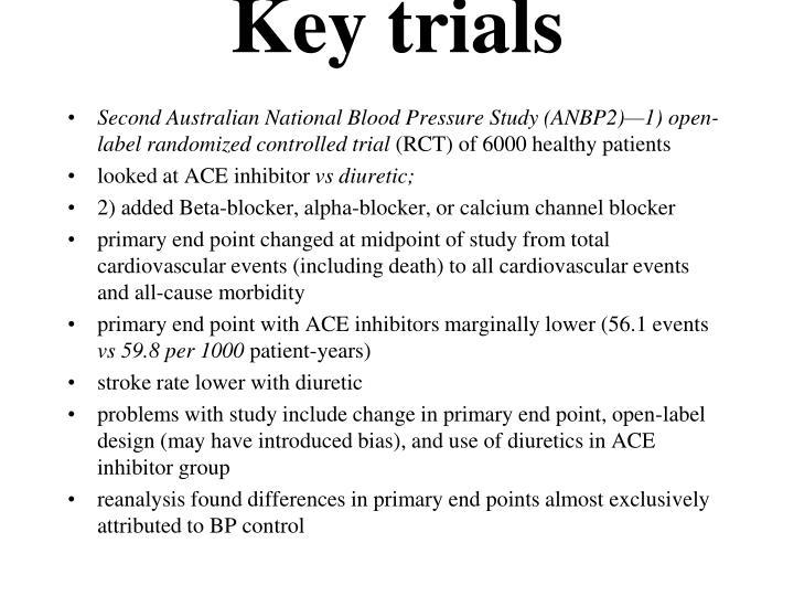 Key trials