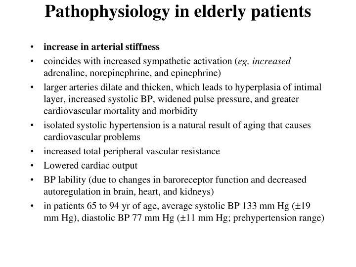 Pathophysiology in elderly patients