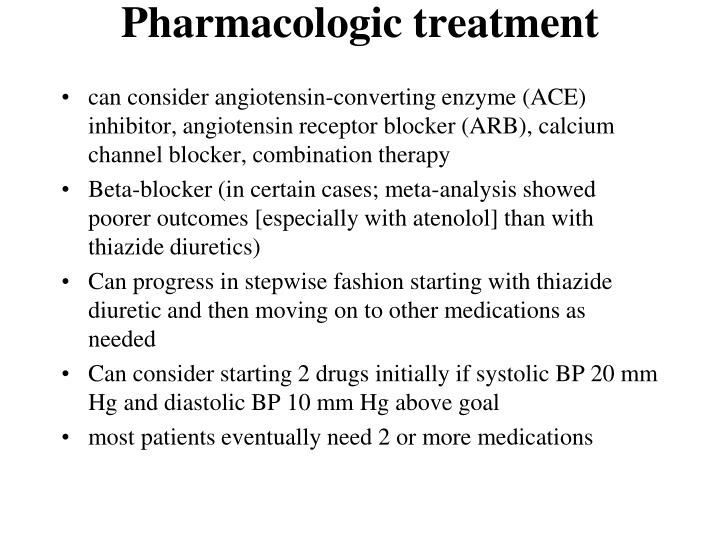 Pharmacologic treatment
