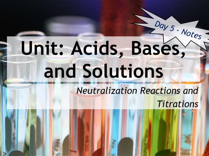 neutralizing acids and bases essay