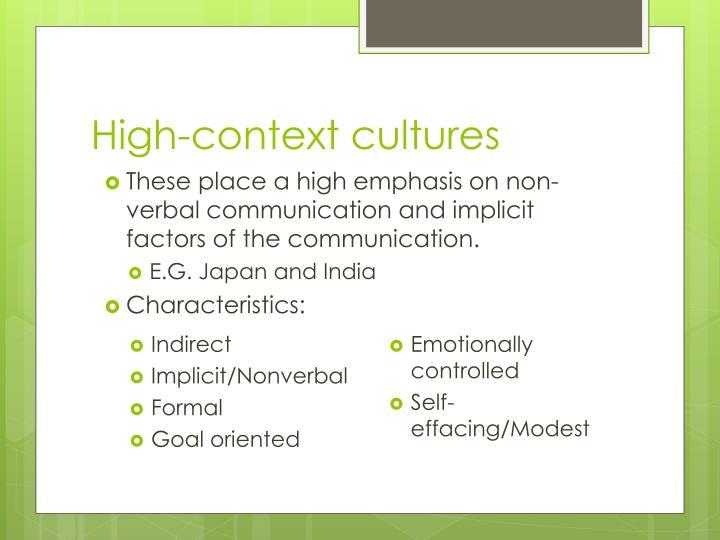 High-context cultures