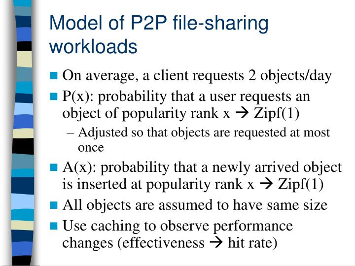 Model of P2P file-sharing workloads
