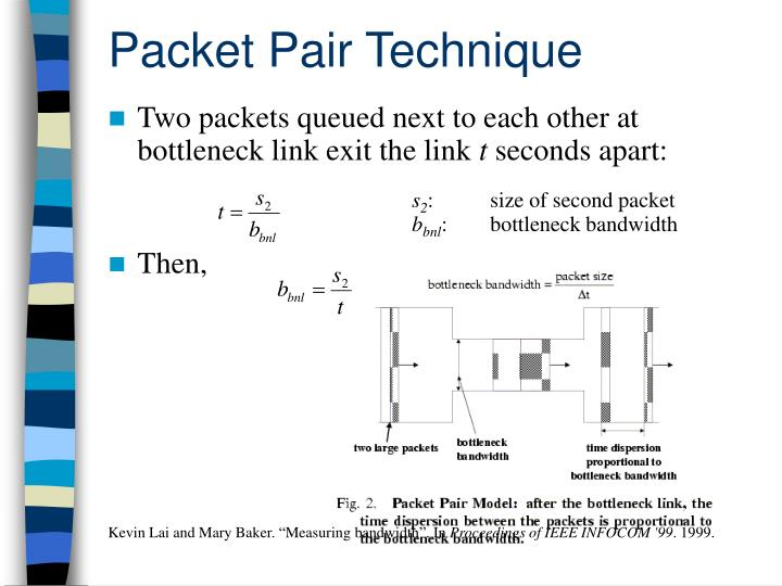 Packet Pair Technique