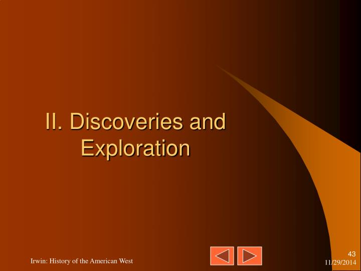 II. Discoveries and