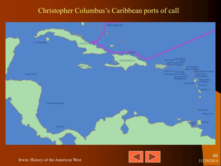 Christopher Columbus's Caribbean ports of call