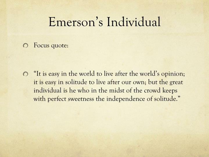 Emerson's Individual