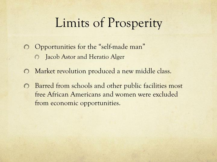 Limits of Prosperity