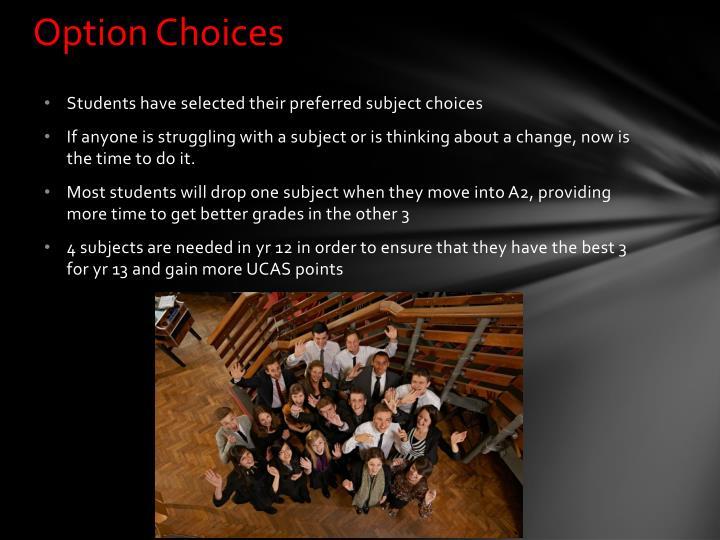 Option Choices