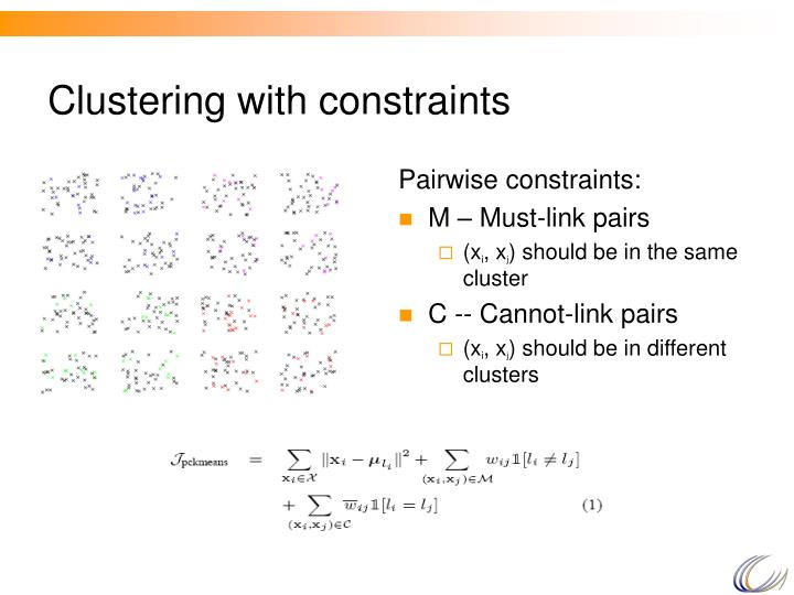 Clustering with constraints