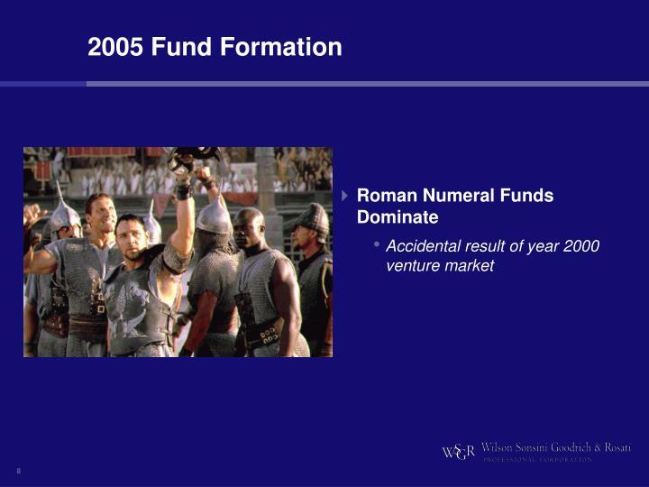 2005 Fund Formation