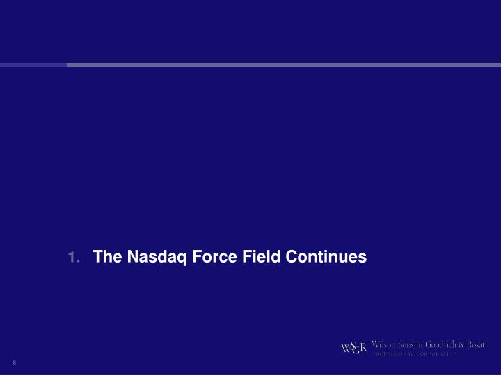 The Nasdaq Force Field Continues