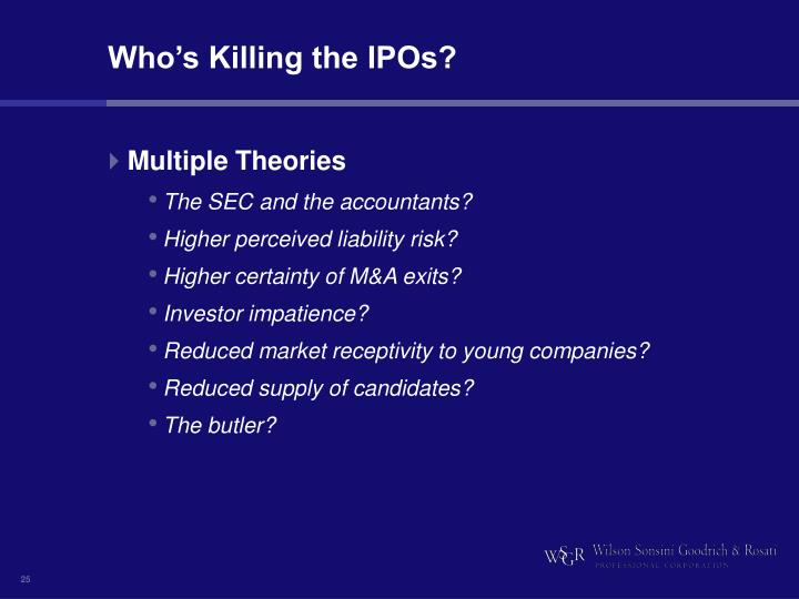 Who's Killing the IPOs?