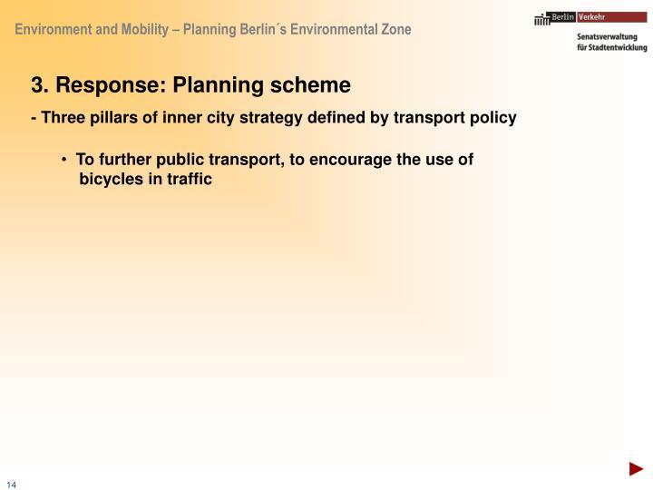 3. Response: Planning scheme