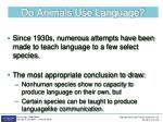 do animals use language