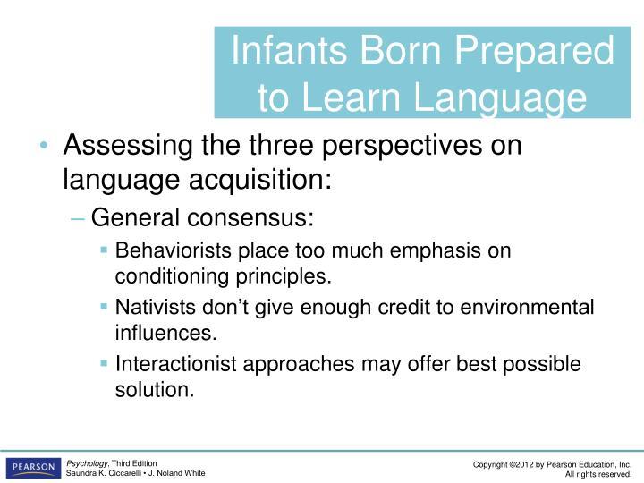 Infants Born Prepared