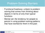 problem solving barriers