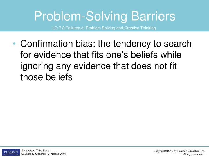 Problem-Solving Barriers