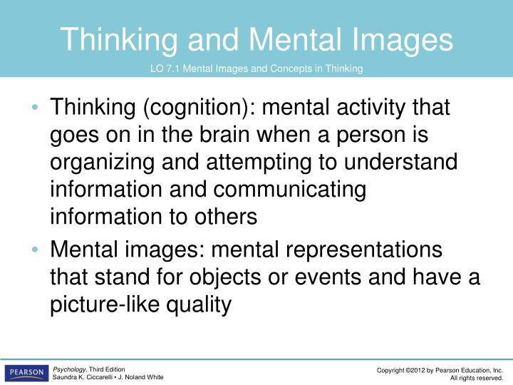 Thinking and mental images