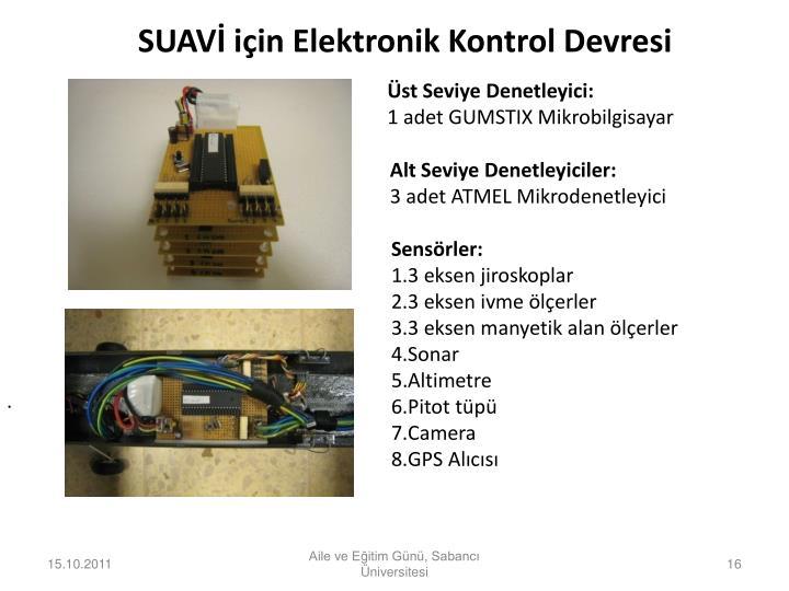 SUAVİ için Elektronik Kontrol Devresi
