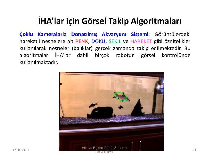 İHA'lar için Görsel Takip Algoritmaları
