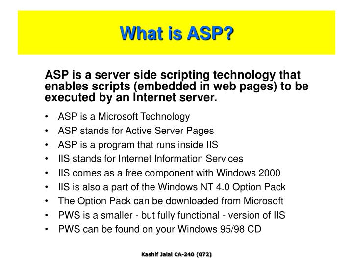What is asp