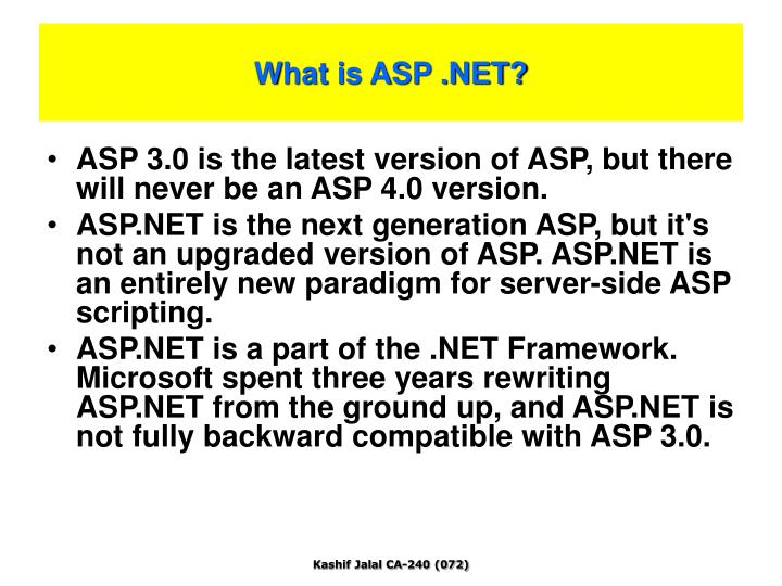 What is ASP .NET?