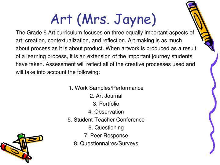 Art (Mrs. Jayne)