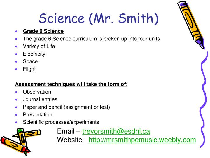 Science (Mr. Smith)