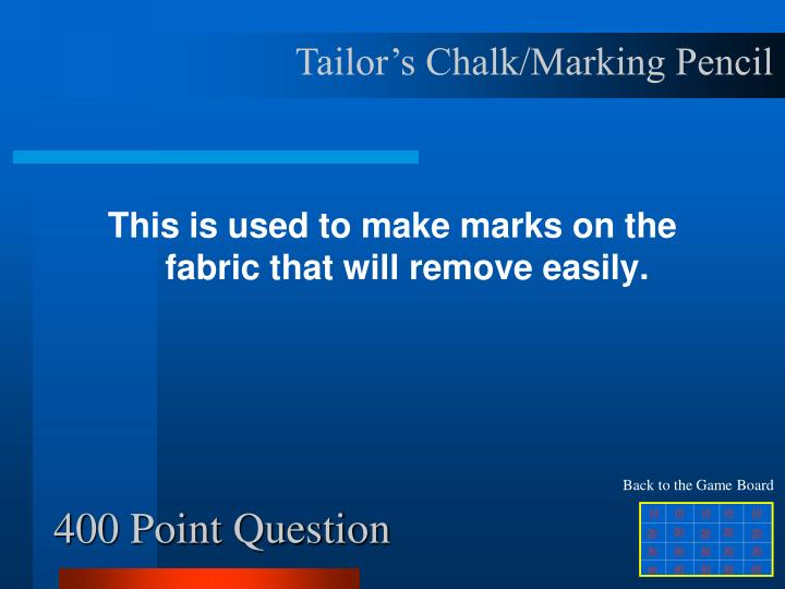 Tailor's Chalk/Marking Pencil
