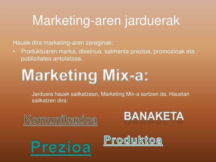 Marketing-aren jarduerak
