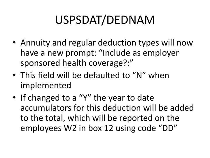USPSDAT/DEDNAM