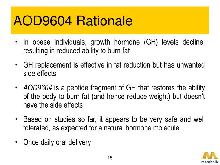 AOD9604 Rationale