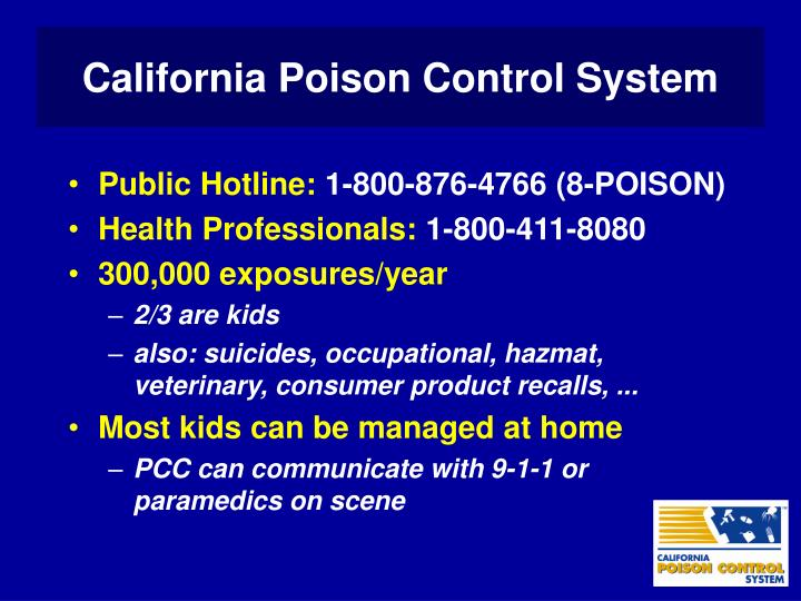 California Poison Control System